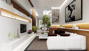Vách thạch cao trang trí phòng khách