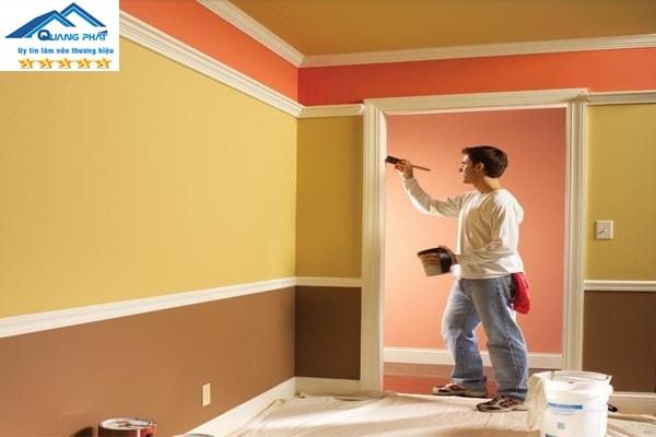 1 ngày thợ sơn được bao nhiêu m2 tường nhà