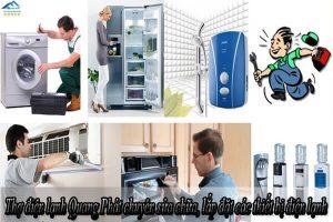 Thợ điện lạnh Quang Phát chuyên sửa chữa, lắp đặt các thiết bị điện lạnh