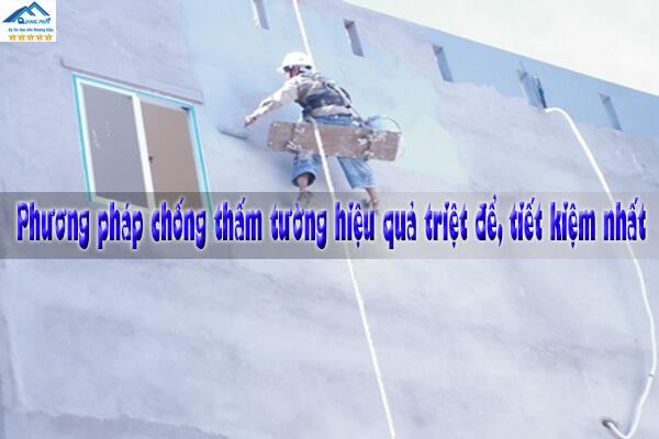 Phương pháp chống thấm tường hiệu quả triệt để, tiết kiệm nhất